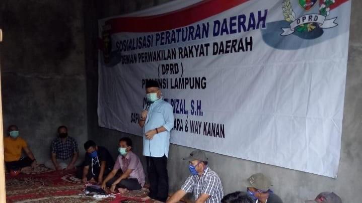 Patuhi Protokol Kesehatan Anggota Dprd Lampung Yozi Rizal Sosperda Penyalahgunaan Narkoba Di Way Kanan