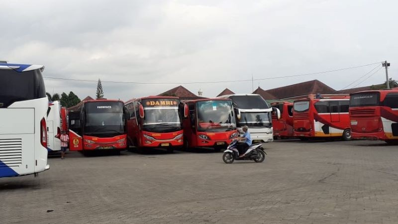 Jakarta Psbb Damri Lampung Hanya Operasikan Tiga Bus Ke Gambir Bekasi Bogor Bandung
