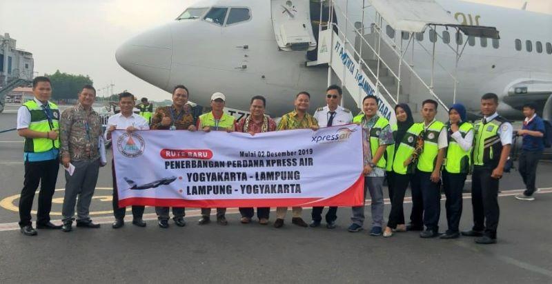 Terbang Perdana Lampung Yogyakarta Xpressair Komit Berikan Tarif Bersaing